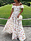 ราคาถูก Special Occasion Dresses-A-line ไหล่ตก ลากพื้น เจอร์ซี่ แต่งตัว กับ แพทเทิร์นหรือลายพิมพ์ / พลีท โดย LAN TING Express