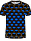cheap Boys' Tops-Kids Toddler Boys' Active Basic Geometric Print 3D Print Short Sleeve Tee Blue