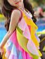 baratos Vestidos para Meninas-Infantil Bébé Para Meninas Doce Estilo bonito Arco-Íris Retalhos Multi Camadas Com Transparência Patchwork Sem Manga Assimétrico Vestido Fúcsia