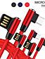 זול כבל & מטענים iPhone-כבל USB זעיר קלוע טרילן / כבל USB מתאם USB עבור