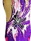 זול חדר כושר-בגדי גוף קצביים להתעמלות בגדי גוף אמנותיים להתעמלות בגדי ריקוד נשים בנות בגד גוף סגול גמישות גבוהה עבודת יד דפוס מראה יהלום ללא שרוולים תחרות התעמלות קצבית התעמלות אמנותית