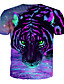 billige T-skjorter til damer-Løstsittende Store størrelser T-skjorte Dame - 3D / Grafisk / Dyr, Trykt mønster Grunnleggende / overdrevet Lilla