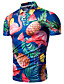 זול חולצות פולו לגברים-3D צווארון חולצה בסיסי כותנה, Polo - בגדי ריקוד גברים דפוס פול / שרוולים קצרים