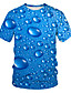 cheap Men's Tees & Tank Tops-Men's Daily Wear Club Street chic / Exaggerated EU / US Size T-shirt - Solid Colored / Polka Dot / 3D Print Round Neck Blue / Short Sleeve