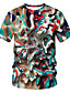 billige T-skjorter og singleter til herrer-Rund hals EU / USA størrelse T-skjorte Herre - Geometrisk / Fargeblokk / 3D, Trykt mønster Grunnleggende / Gatemote Regnbue / Kortermet