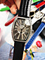 זול שעונים-בגדי ריקוד נשים שעון מכני קווארץ עור אמיתי זוהר בחושך אנלוגי אופנתי - ירוק כחול ורוד / מתכת אל חלד