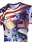 billige T-skjorter og singleter til herrer-Rund hals Store størrelser T-skjorte Herre - 3D Hvit / Kortermet