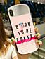 baratos Capinhas para iPhone-Capinha Para Apple iPhone XS / iPhone XR / iPhone XS Max Espelho Capa traseira Desenho Animado Vidro Temperado