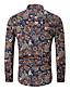 billige Herreskjorter-EU / USA størrelse Skjorte Herre - Grafisk, Trykt mønster Grunnleggende Svart / Langermet