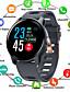 baratos Smart watch-Relógio inteligente Digital Estilo Moderno Esportivo Silicone 30 m Impermeável Monitor de Batimento Cardíaco Bluetooth Digital Casual Ao ar Livre - Preto Branco Azul