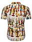billige Herreskjorter-Bomull Klassisk krage EU / USA størrelse T-skjorte Herre - Grafisk / Tribal, Trykt mønster Grunnleggende Hvit / Kortermet