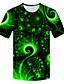 Χαμηλού Κόστους Ανδρικά μπλουζάκια και φανελάκια-Ανδρικά Μεγάλα Μεγέθη T-shirt 3D Στρογγυλή Λαιμόκοψη Patchwork Πράσινο του τριφυλλιού / Κοντομάνικο