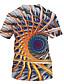 Χαμηλού Κόστους Ανδρικά μπλουζάκια και φανελάκια-Ανδρικά Μέγεθος EU / US T-shirt Βασικό / Κομψό στυλ street Γεωμετρικό / Συνδυασμός Χρωμάτων / 3D Στρογγυλή Λαιμόκοψη Στάμπα Ουράνιο Τόξο / Κοντομάνικο