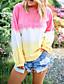 Χαμηλού Κόστους T-shirt-Γυναικεία Μεγάλα Μεγέθη T-shirt Βασικό / Κομψό στυλ street Συνδυασμός Χρωμάτων / Ουράνιο Τόξο Φαρδιά Στάμπα Ανθισμένο Ροζ