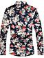 billige Skjorter-Skjorte Herre - Blomstret Chinoiserie Navyblå