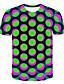 Χαμηλού Κόστους Ανδρικά μπλουζάκια και φανελάκια-Ανδρικά Μέγεθος EU / US T-shirt Κλαμπ Κομψό στυλ street / Εξωγκωμένος Συνδυασμός Χρωμάτων / 3D / Γραφική Στρογγυλή Λαιμόκοψη Στάμπα Βυσσινί / Κοντομάνικο
