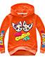 baratos Moletons Para Meninos-Infantil Bébé Para Meninos Básico Estampado Estampado Manga Longa Algodão Moleton & Blusa de Frio Rosa