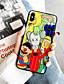 olcso iPhone tokok-Case Kompatibilitás Apple iPhone 11 / iPhone 11 Pro / iPhone 11 Pro Max Minta Fekete tok Rajzfilm Akril
