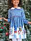 olcso Lány ruhák-Gyerekek Lány Alap Karácsony Hosszú ujj Mini Ruha Medence