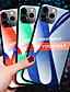 olcso iPhone tokok-luxus gradiens edzett üveg telefon tok iPhone 11 pro max xr xs max x 8 plusz 7 plusz 6 plusz ütésálló hátlap szilikon puha tpu élvédő