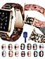olcso Smartwatch sávok-almaóra-sorozathoz 5/4/3/2/1 csereszalag gyantapántos pillangó csattal és szíjszabályozóval