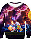 olcso Férfi pólók és pulóverek-Férfi Alkalmi Pulóver 3D