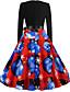 olcso Női ruhák-Női Parti Alap A-vonalú Ruha Egyszínű Térd feletti