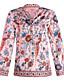 cheap Women's Shirts-Women's Daily Weekend Street chic Shirt - Floral / Geometric Daisy, Patchwork / Print Purple