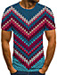 baratos Camisetas & Regatas Masculinas-Homens Camiseta 3D / Arco-Íris Azul