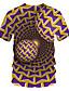 baratos Camisetas & Regatas Masculinas-Homens Camiseta Moda de Rua / Exagerado Estampado, Estampa Colorida / 3D / Gráfico Marron