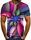 baratos Camisetas & Regatas Masculinas-Homens Camiseta 3D / Arco-Íris Arco-íris