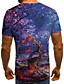 baratos Camisetas & Regatas Masculinas-Homens Camiseta 3D / Arco-Íris Roxo
