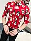 baratos Camisas Masculinas-Homens Camisa Social Gráfico Preto