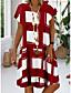 cheap Summer Dresses-Women's Plus Size Sundress Dress - Short Sleeve Geometric Print Summer V Neck Casual Vacation 2020 Black Red Royal Blue S M L XL XXL XXXL XXXXL XXXXXL