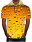baratos Pólos Masculinas-Homens Tamanhos Grandes Polo Moda de Rua / Exagerado Estampado, Estampa Colorida / 3D / Gráfico Colarinho de Camisa Amarelo / Manga Curta
