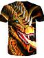 baratos Camisetas & Regatas Masculinas-Homens Camiseta 3D Preto