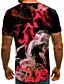 baratos Camisetas & Regatas Masculinas-Homens Camiseta 3D / Arco-Íris Preto