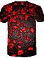 baratos Camisetas & Regatas Masculinas-Homens Camiseta 3D / Arco-Íris Vermelho