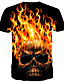 baratos Camisetas & Regatas Masculinas-Homens Camiseta Estampado, 3D Amarelo