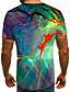 baratos Camisetas & Regatas Masculinas-Homens Camiseta Estampado, 3D Arco-íris
