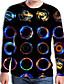baratos Camisetas & Regatas Masculinas-Homens Camiseta Moda de Rua Estampado, Geométrica / 3D Arco-íris