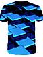baratos Camisetas & Regatas Masculinas-Homens Camiseta 3D Azul