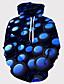 baratos Abrigos e Moletons Masculinos-Homens Básico Moletom 3D
