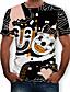 baratos Camisetas & Regatas Masculinas-Homens Camiseta Estampado, 3D Preto