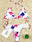cheap Tankinis-Women's Basic Blushing Pink Blue Halter Cheeky Bikini Tankini Swimwear Swimsuit - Striped Floral Geometric Print S M L Blushing Pink