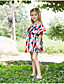 cheap Girls' Dresses-Kids Girls' Plaid Dress Red
