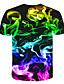 cheap Boys' Tops-Kids Boys' Basic Street chic Color Block 3D Rainbow Print Short Sleeve Tee Rainbow
