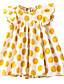 cheap Girls' Dresses-Kids Girls' Solid Colored Dress Yellow