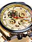 cheap Mechanical Watches-FORSINING Men's Dress Watch Mechanical Watch Analog Automatic self-winding Three-eye Six-needle Classic Waterproof Dual Time Zones Large Dial