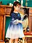 cheap Girls' Dresses-Kids Girls' Color Block Dress Blue